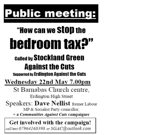 Flyer for Stockland Green meeting